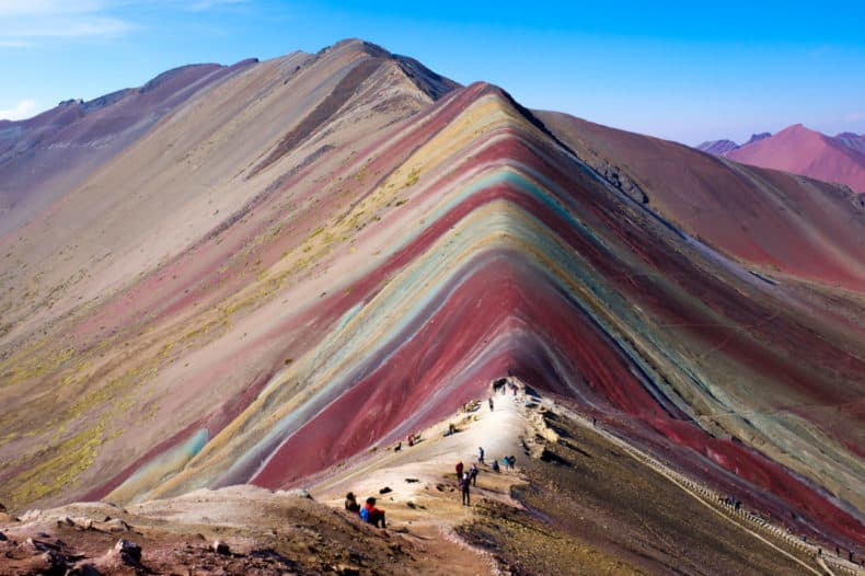 Rainbow Mountain in Cusco region, Peru