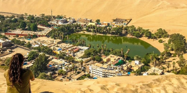 huacachina with a solo woman traveler