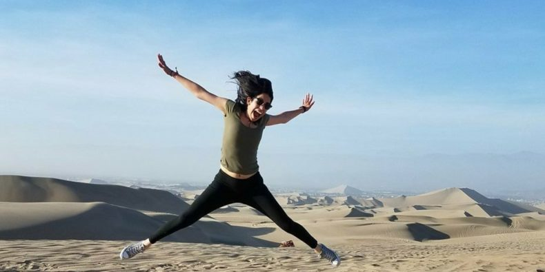 woman living her best life by traveling alone