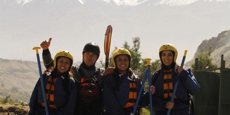group of women in peru