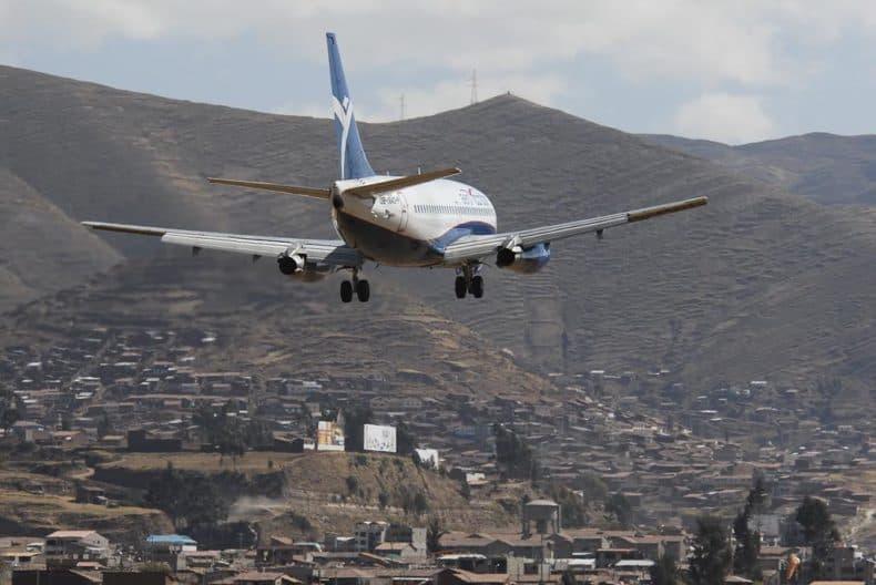 Cusco Airport - Plane in Flight
