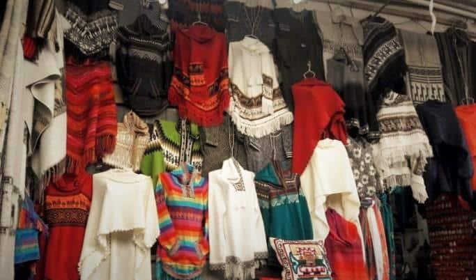 Peru Travel Tips - Clothes at a market