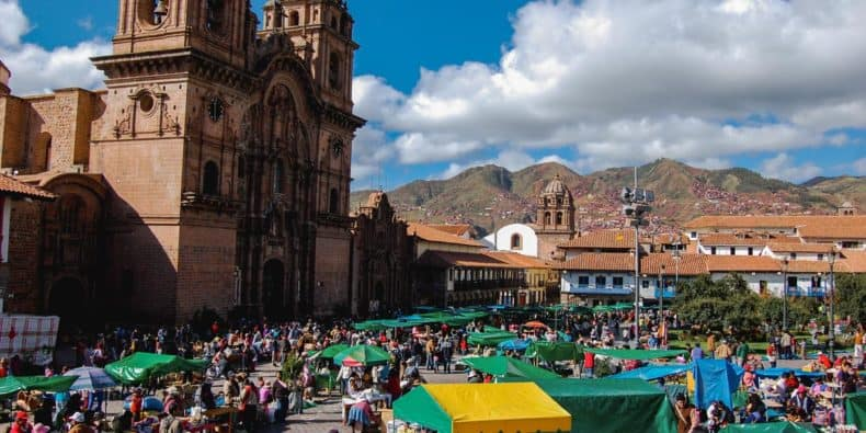 view of Santurantikuy Market Christmas & New Year in Cusco, Peru