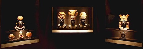 Pieces from Archeological museum Larco