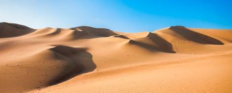Sand dunes in Ica desert, Peru