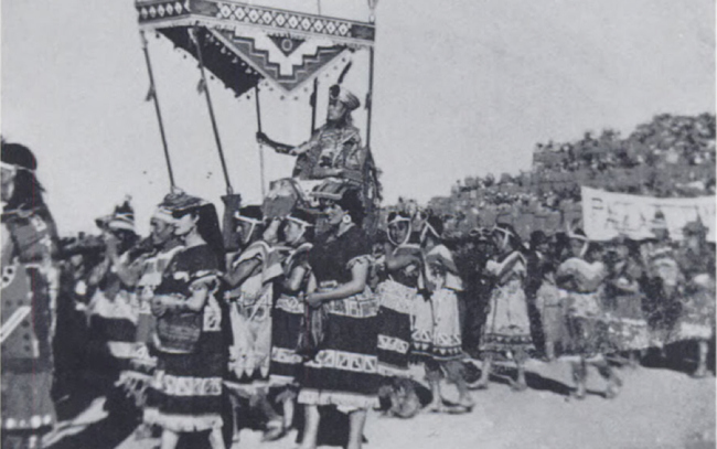 Inti Raymi History - Inti Raymi being carried in 1944
