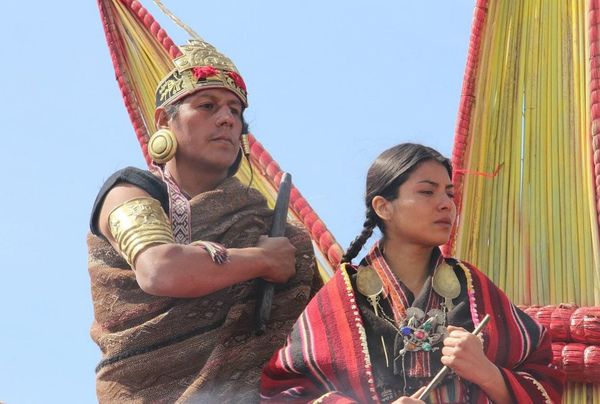 Inti Raymi History - Sapa Inca with Wife