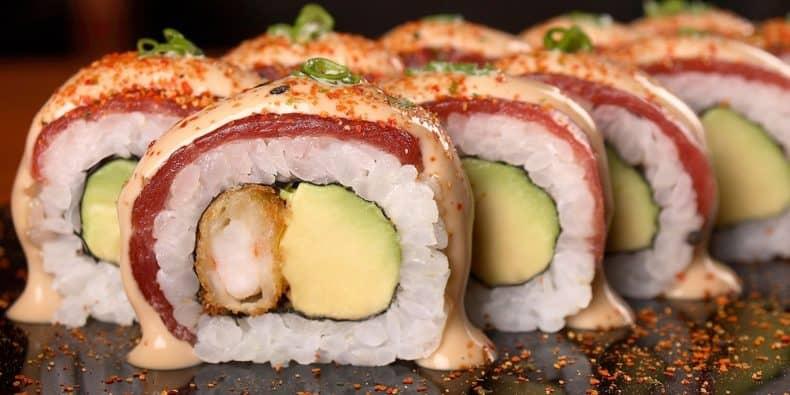 Prato de sushi acevichado - Edo Sushi Bar