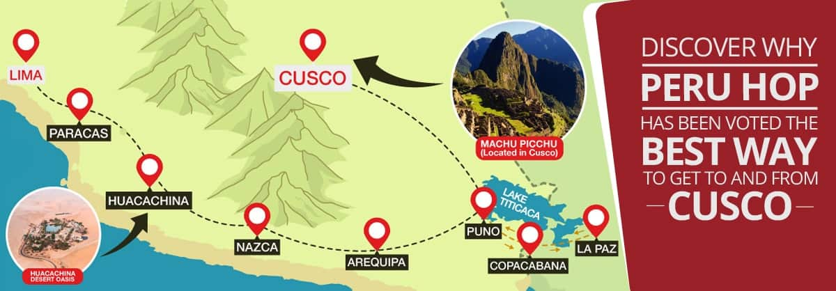Getting from Lima to Machu Picchu: 2019 Updated - Peru Hop on map of new york, map of wadi rum, map of san pedro de atacama, map of jerusalem, map of cusco region, map of punta uva, map of galapagos islands, map of bru na boinne, map of argentina, map of taha'a, map of south america, map of inca empire, map of tikal, map of chichen itza, map of murchison falls national park, map of cuzco, map of asunción, map of inca society, map of tenochtitlan, map of peru,