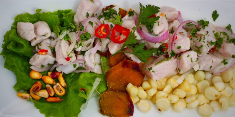 ceviche from lima, seafood of peru