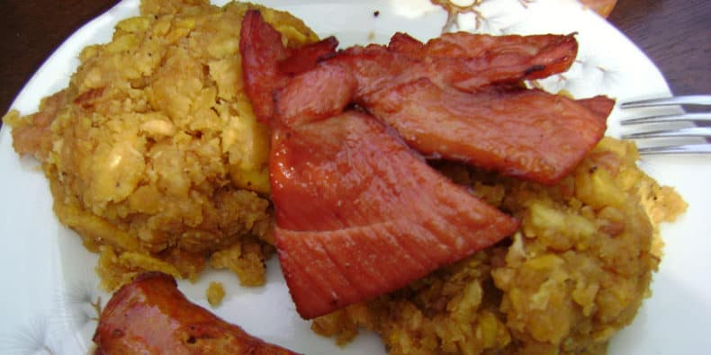 comida típica en peru - tacacho con cecina