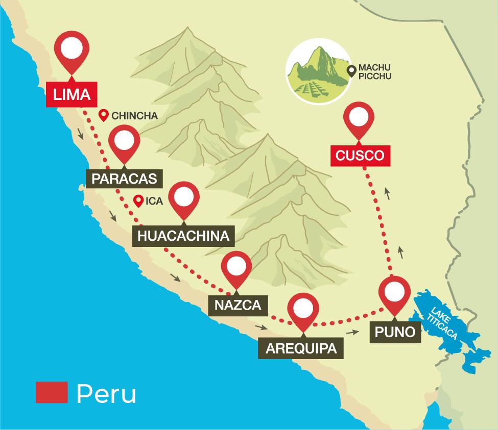 Lima Peru Karte.Bus Passes Peru Hop