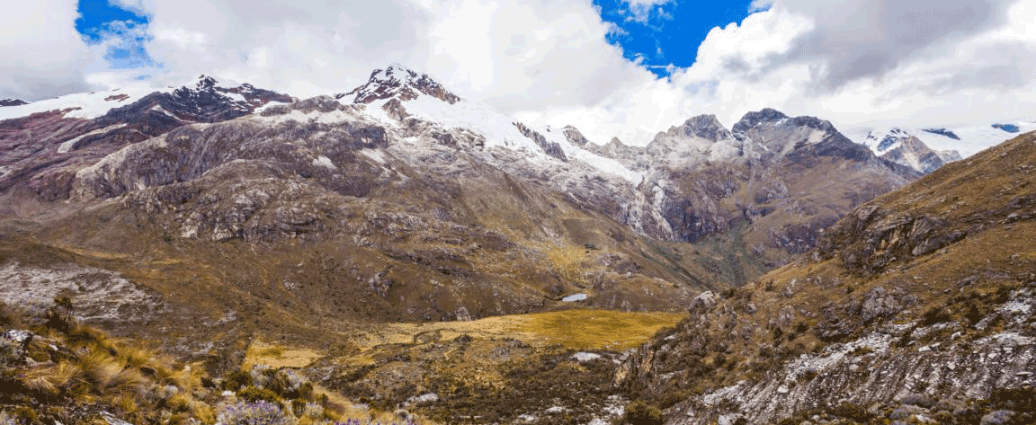 Snow-capped mountains on the way to Colca Canyon in Arequipa region, Peru