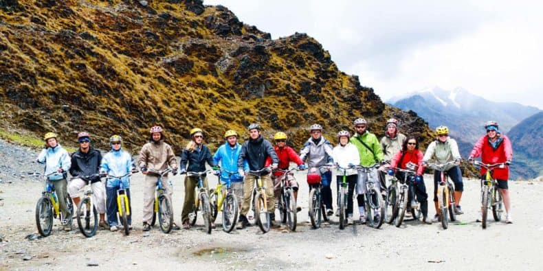 Bicicletas en el Inca Jungle Trek