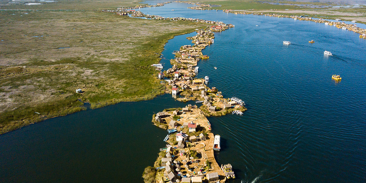 lake titicaca from above