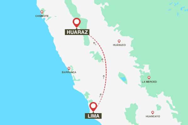 map-lima-to-huaraz