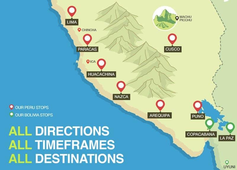 Huacachina Peru Map.Peru Hop Don T Be A Typical Tourist