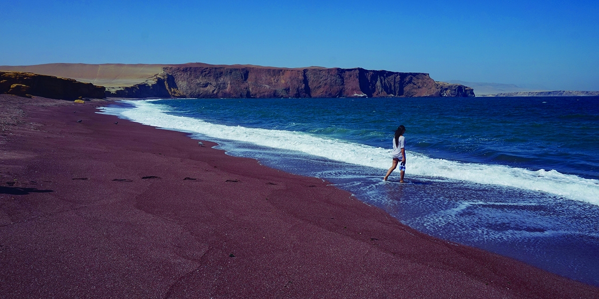 paracas red beach in peru