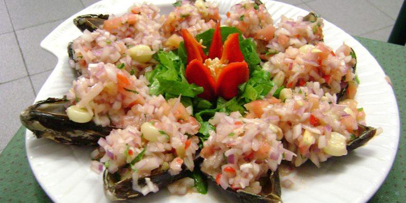 choritos a la chalaca - prato típico do Peru