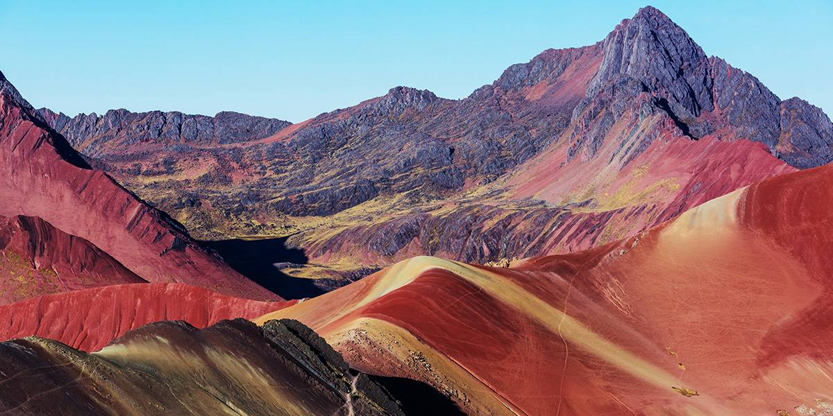 the red valley of the rainbow mountain