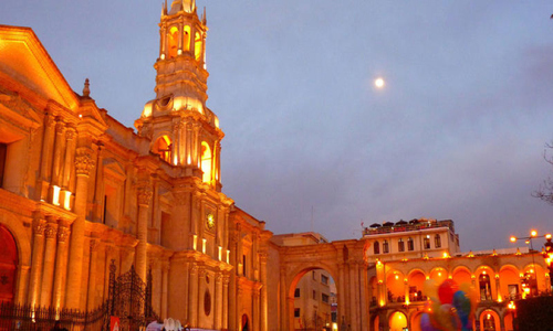 Independence Day Peru - Arequipa in the evening
