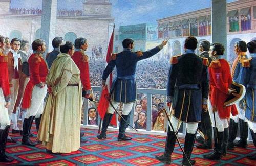 Independence Day Peru - painting of Jose de San Martin