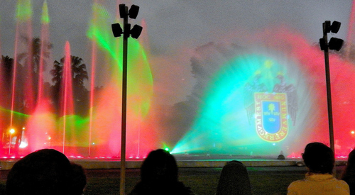 Independence Day Peru - Celebration at the water fountain park