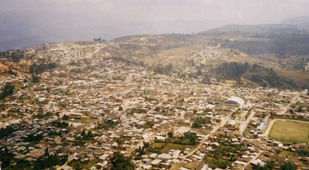 Chachapoyas Peru - Chachapoyas city from a height