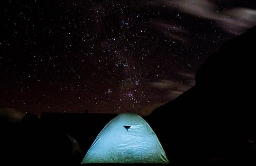 Choquequirao Hike- Tent under stars
