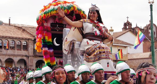 Inti Raymi Festival - Coya being carried
