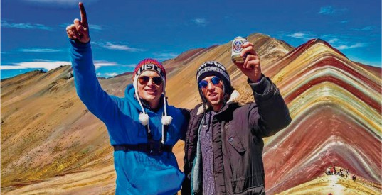 top of rainbow mountain