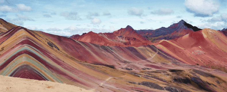 Vinicunca Rainbow Mountain in Cusco region, Peru
